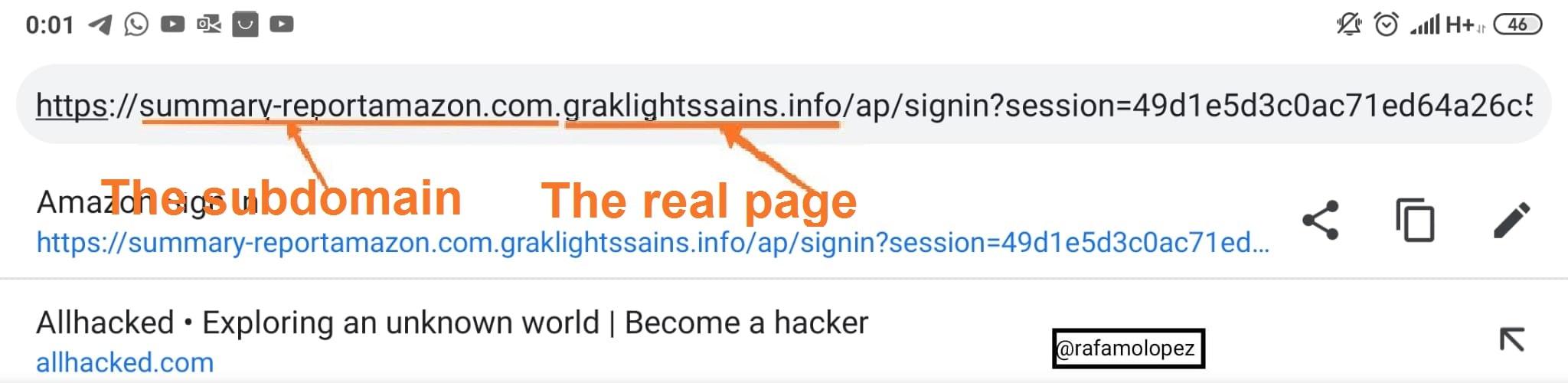 Viendo URL.